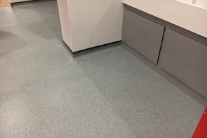 Flooring at Rawlins College, Quorn, Leicestershire.