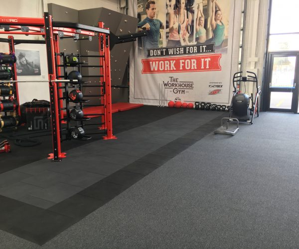 flooring in the workhouse gym east midlands
