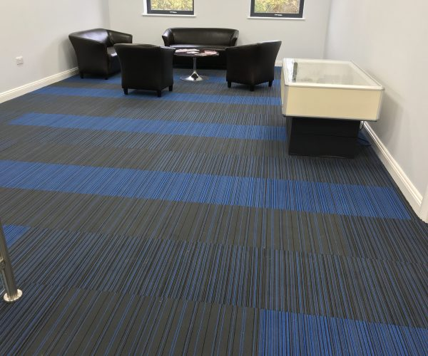 Factory Flooring - Burmatex Carpet Tiles in the reception