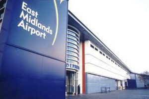Carpet tiles and safety flooring at East Midlands Airport.