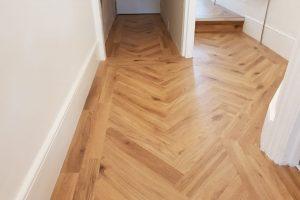 Karndean parquet flooring.